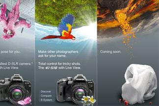 Olympus puts up teaser for their new digital SLR - Digital cameras, digital camera reviews, photography views and news news