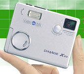 Minolta DiMAGE X20, the smallest & lightest - Digital cameras, digital camera reviews, photography views and news news