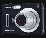 The new Casio Exilim Z55 in deep Black and Blue - Digital cameras, digital camera reviews, photography views and news news
