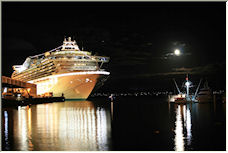 Moon over Consitution Dock, Hobart - Copyright © 2008 by Clive