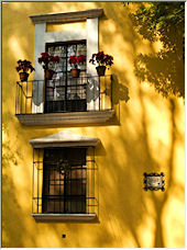 Yellow wall in the afternoon - Copyright © 2008 by bac