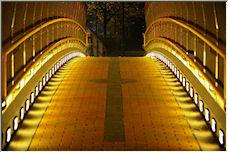 Footbridge at Night - Copyright © 2008 by Bear
