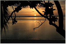 Sunset on Aitutaki - Copyright © 2008 by Clive