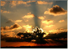 Sunrise this morning - Copyright © 2006 by Hubert de Palm