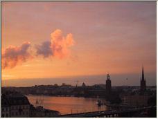 Sunset over Stockholm - Copyright © 2006 by Henrik Levkowetz