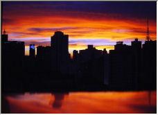 Sunset in Sao Paulo - Copyright © 2006 by Helio Mesquita