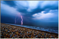 Chesil Beach Storm - Copyright © 2006 by Ian Watkins
