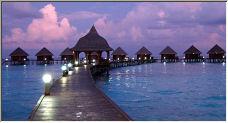 Maldivian sunset - Copyright © 2007 by sarahnewton