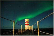 garðskagaviti and aurora - Copyright © 2007 by tomw